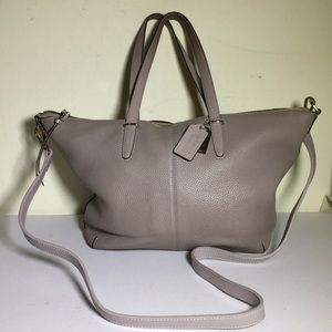 Coach pebbled Bleeker copper bag